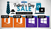 Advertisement: Godeal24 Father's Day: Windows 10 for $ 8 and save up to 60%