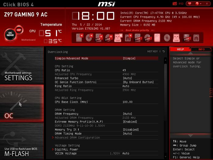 MSI Z97 Gaming 9 AC Motherboard Review - Overclocking The