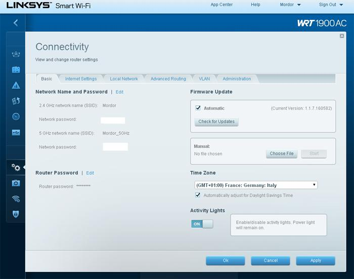 Linksys WRT1900AC Router review - Router Software