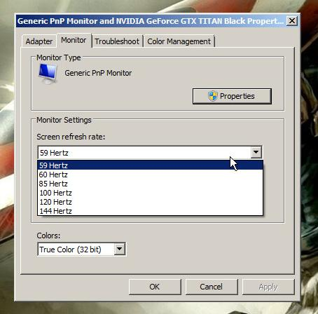how to run games at 30hz on a 60hz screen