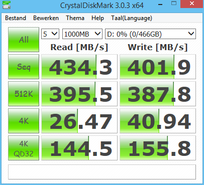 Samsung T5 Portable SSD review - SSD Performance Crystal