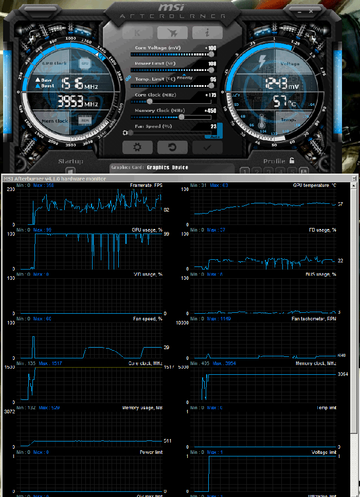 how to use msi afterburner core clock
