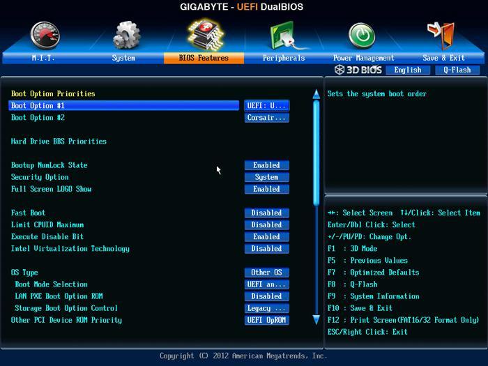 Gigabyte Z77X-UP7 review - The UEFI BIOS