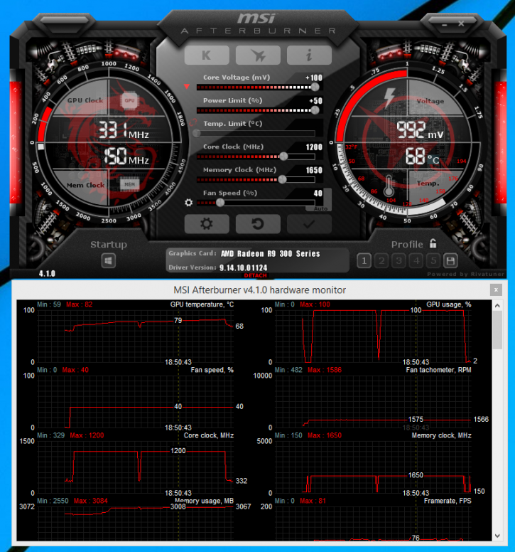 MSI Radeon R9 390X Gaming 8G OC review - Overclocking The