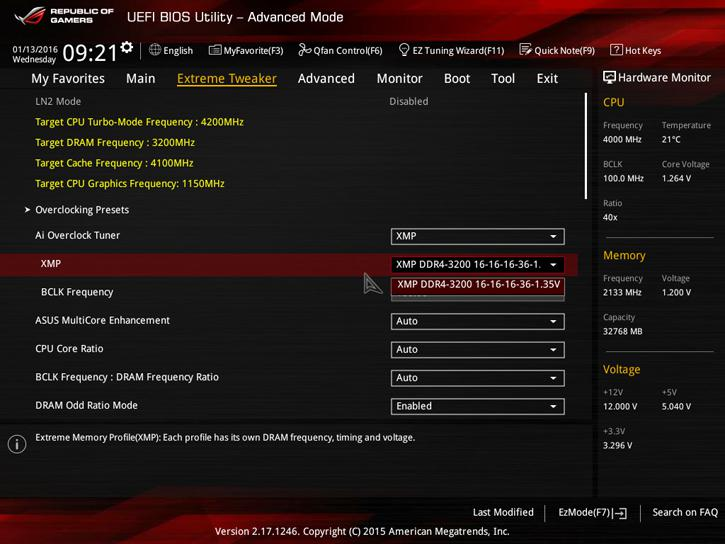 G Skill TridentZ 3200 MHz DDR4 memory review - Enabling your XMP 2 0