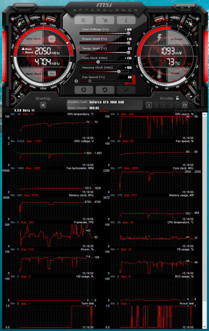 MSI GeForce GTX 1060 6GT OC Review - Overclocking The