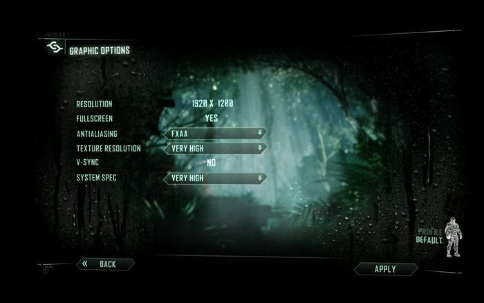 Crysis 3 VGA Graphics Benchmark performance test - VGA performance