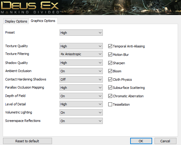 Deus Ex: Mankind Divided PC GPU (DX11 and DX12) performance