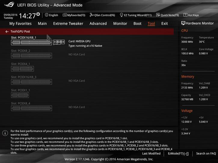 Asus ROG RAMPAGE V Edition 10 Review - The UEFI BIOS