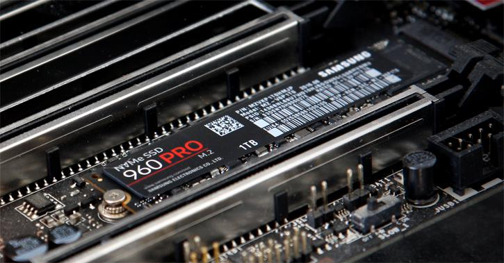 Samsung 960 PRO M 2 1TB NVMe SSD review - Installation