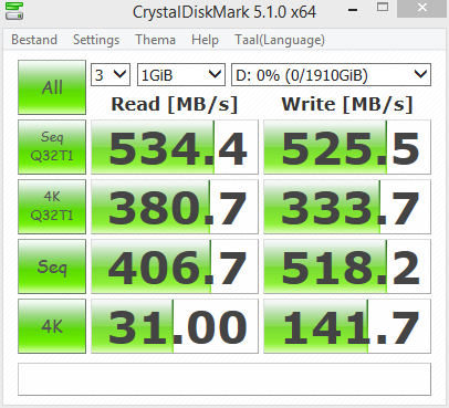 Crucial MX500 1TB SSD review - SSD Performance Crystal DiskMark