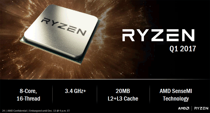 Editorial: AMD Zen is now RYZEN processor - Caches - SenseMI and Chipset