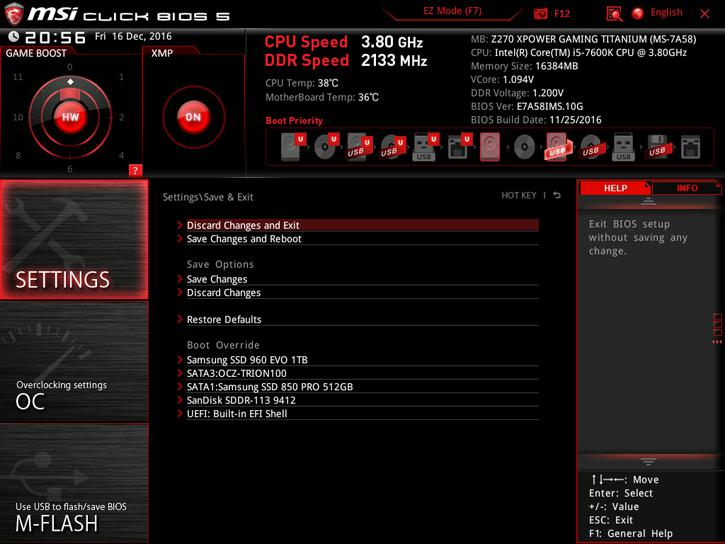 MSI Z270 XPOWER GAMING Titanium review - The UEFI BIOS