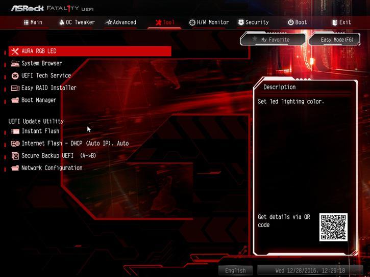 ASRock Z270 Gaming K6 Fatal1ty review - The UEFI BIOS