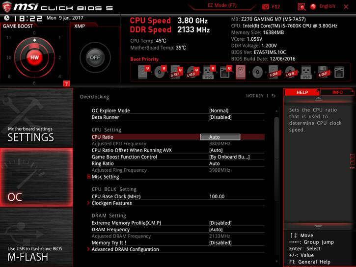 MSI Z270 GAMING M7 review - The UEFI BIOS