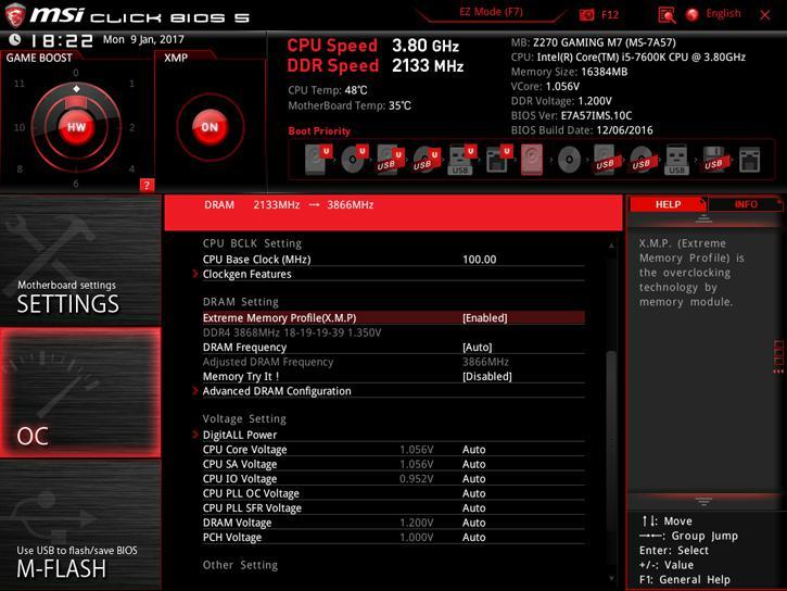 MSI Z270 GAMING M7 review - The UEFI BIOS