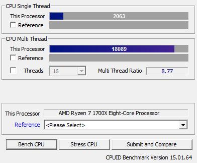 AMD Ryzen 7 1700X Review - Performance - CPU-Z