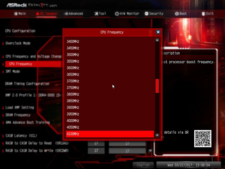ASRock X370 Gaming Professional Fatal1ty review - Overclocking With