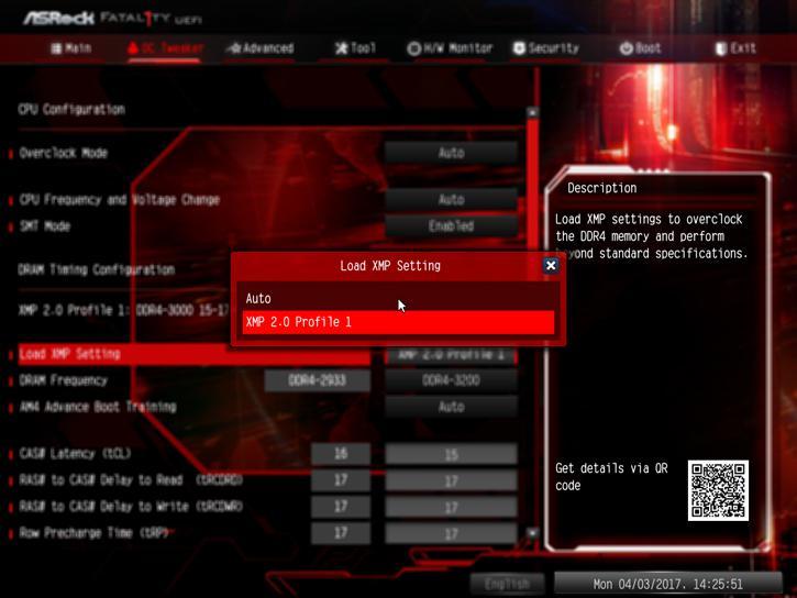 AMD Ryzen 7 Memory And Tweaking Analysis review - Enabling