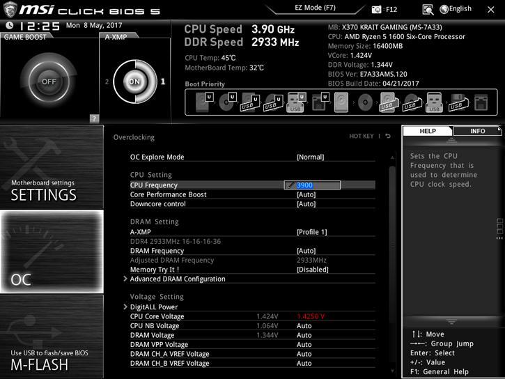 MSI X370 XPower KRAIT Gaming review - The UEFI BIOS