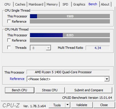 Amd Ryzen 5 1400 Review Performance Cpu Z
