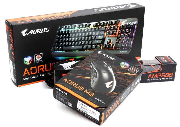 Gigabyte Aorus K7 keyboard and M3 mouse review - Product