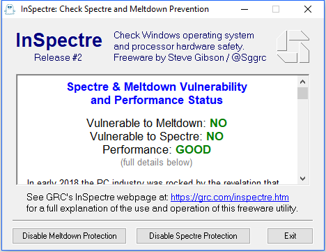... updates against Meltdown and Spectre. Earlier changes to the OS to  resolve the vulnerabilities have led to problems with av-suites. Microsoft  has worked ...