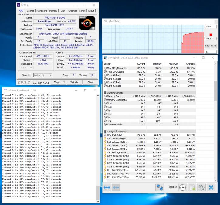 AMD Ryzen 5 2400G review - Overclocking The Ryzen 5 2400G