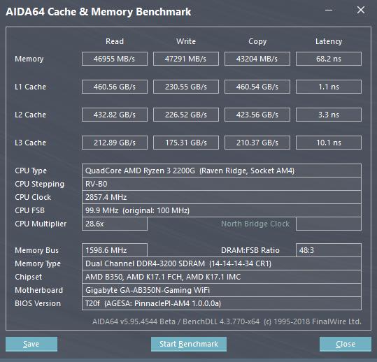 AMD Ryzen 3 2200G review - Performance - DDR4 System Memory