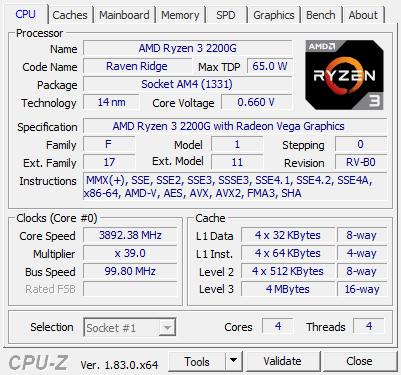 AMD Ryzen 3 2200G review - Overclocking The Ryzen 3 2200G processor