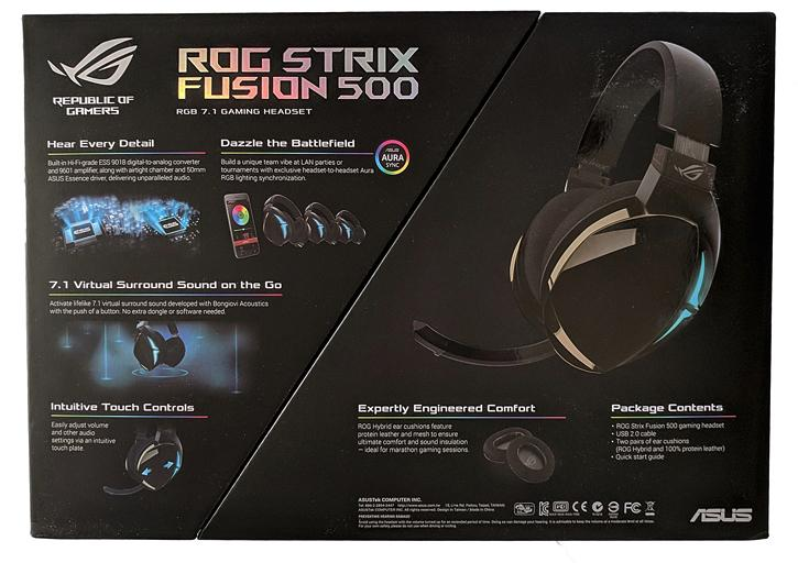 ASUS Strix Fusion 500 Headset review - Specification and