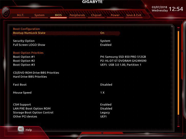 Gigabyte Aorus B360 Gaming 3 WIFI review - The UEFI BIOS