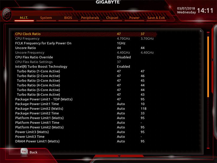 Gigabyte Aorus H370 Gaming 3 WIFI review - Overclocking