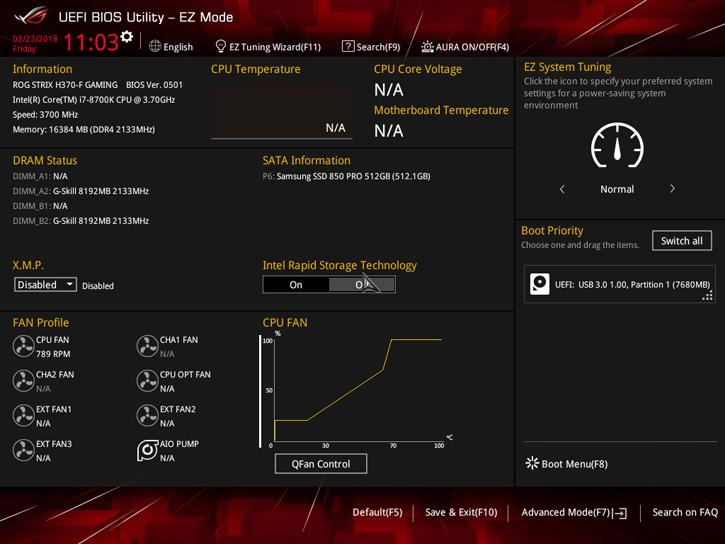 ASUS ROG STRIX H370-F Gaming review - The UEFI BIOS
