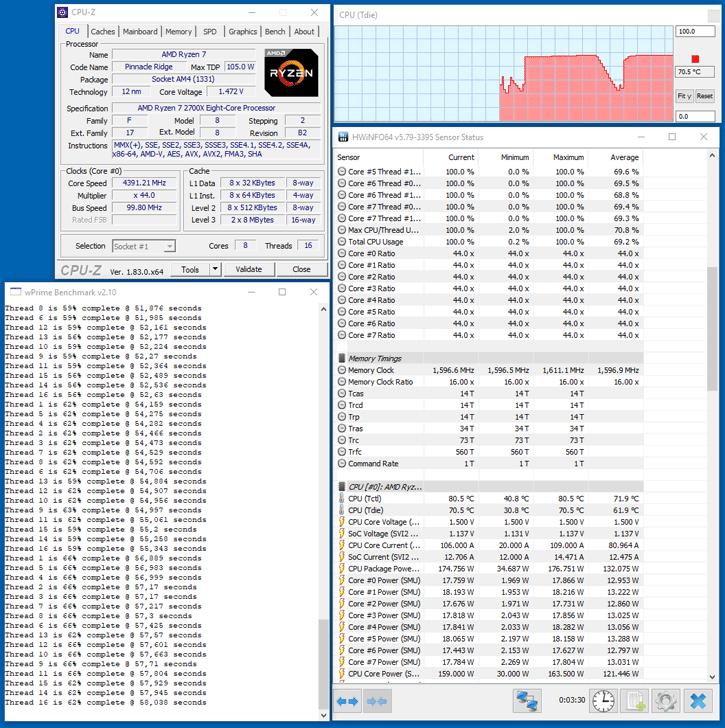 AMD Ryzen 7 2700X review - Overclocking The Ryzen 7 2700X
