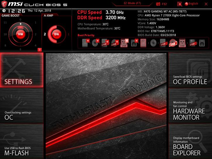 MSI X470 Gaming M7 AC review - The UEFI BIOS