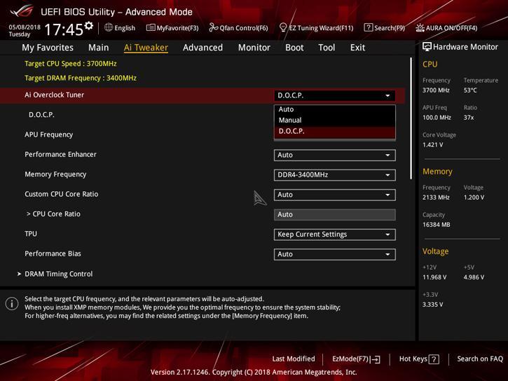 ASUS ROG Strix X470-F Gaming review - The UEFI BIOS