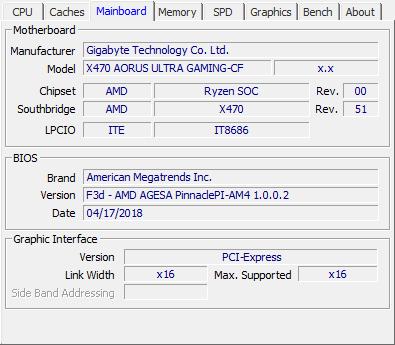 Gigabyte X470 Aorus Ultra Gaming review - CPU-Z Screenshots & System