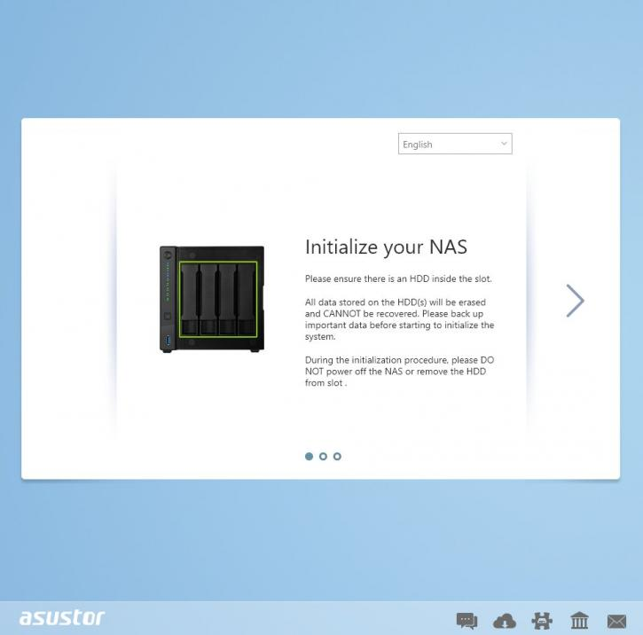 Asustor AS4004T 10 Gigabit NAS Review - Software Installation