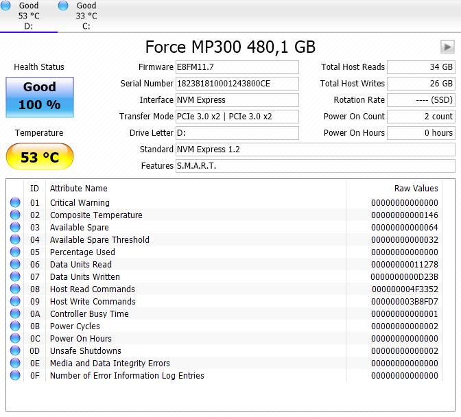 Corsair MP300 M2 NVMe 480GB SSD Review - Installation
