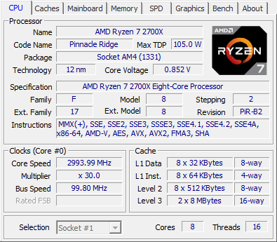 MSI B450 Tomahawk review - CPU-Z Screenshots & System