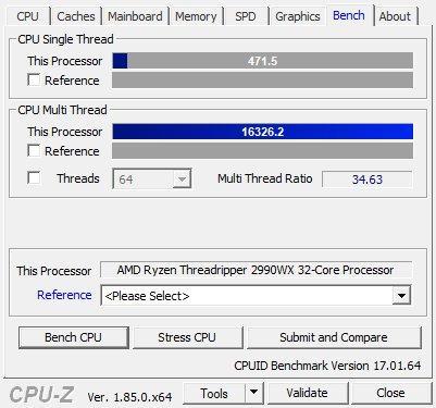 AMD Ryzen Threadripper 2990WX review - CPU-Z Screenshots