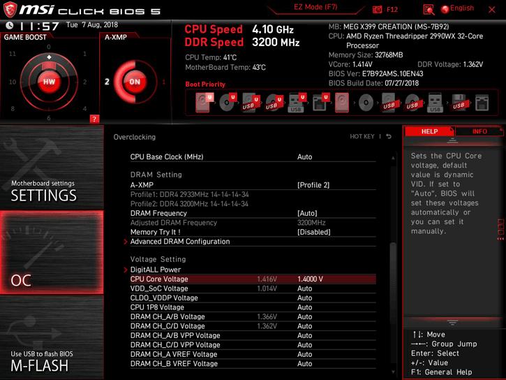 AMD Ryzen Threadripper 2990WX review - Overclocking Your