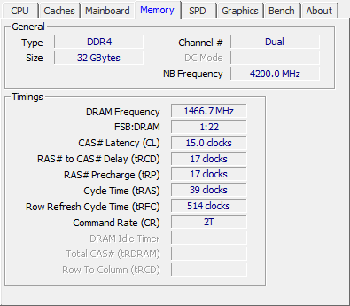 HyperX Predator DDR4 RGB 32GB 2933 MHz review - CPU-Z - DDR4