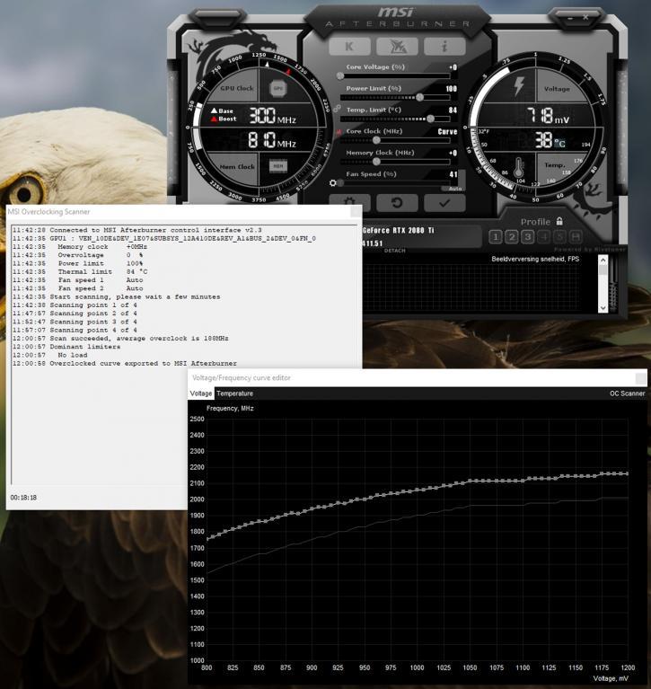 GeForce RTX 2080 Founders review - NVLINK SLI / Overclocking Scanner