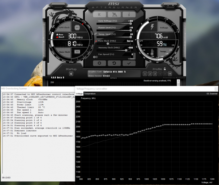 MSI GeForce RTX 2080 Ti Gaming X TRIO review - Overclocking