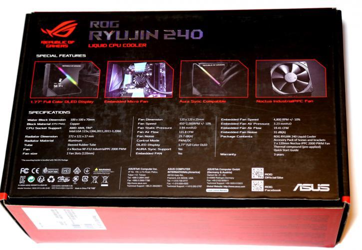 ASUS ROG Ryujin and Ryuo AIO kits review - ROG Ryujin 240
