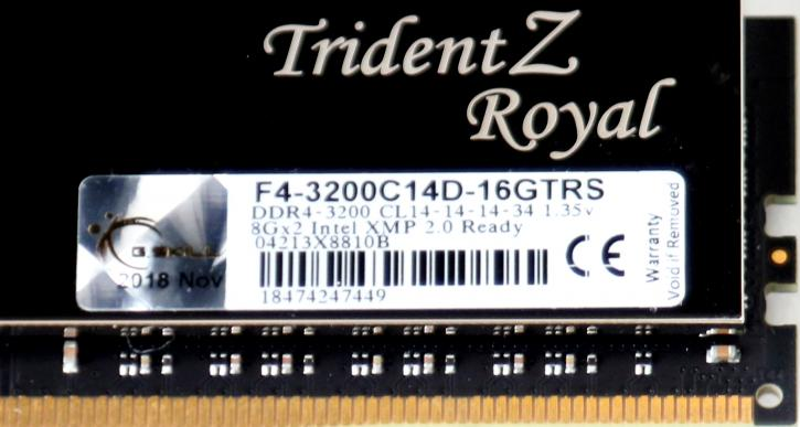 G Skill TridentZ Royal DDR4 3200 MHz review - Memory timings