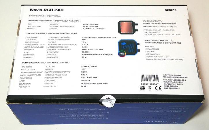 SilentiumPC Navis RGB 240 & 280 LCS review - Product showcase
