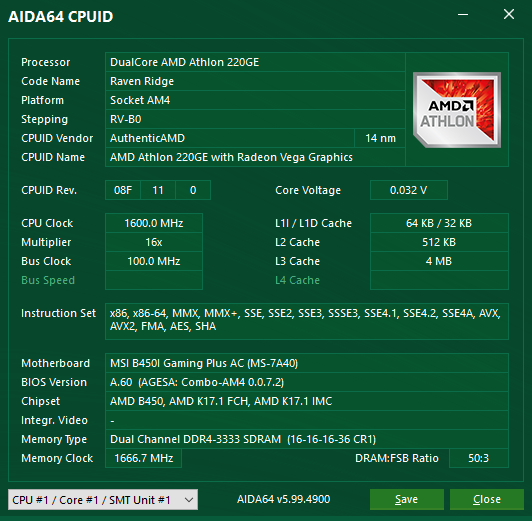 Amd Athlon 220ge And 240ge Review Hardware Software Used